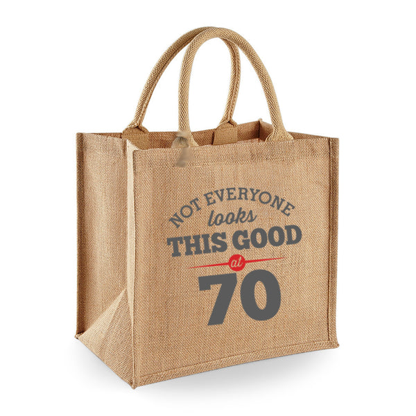 70th Birthday Bag, Gift, Womens Bag, Ladies Shopping Bag, Tote Bag, Birthday Idea, Keepsake