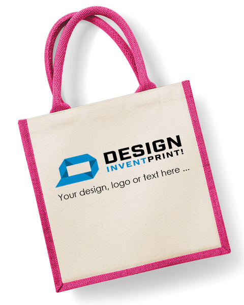 Custom Print Promotional Medium Sized Ladies Tote Bag, Printed With Your Design