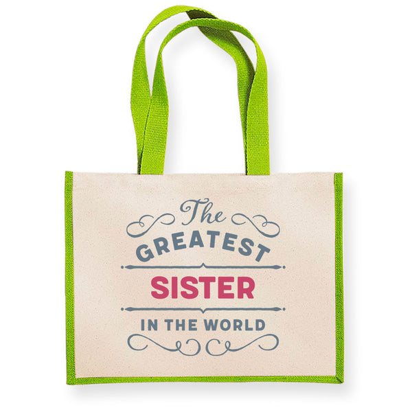 Sister Gift, Sister Birthday or Christmas Bag, Personalised Sister Gift, Present, Funny Gift From Sister, Keepsake, Tote, Shopping Bag