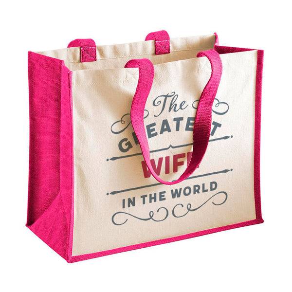 Wife Gift, Wife Birthday or Christmas Bag, Personalised Wife Gift, Present, Funny Gift From Wife, Keepsake, Tote, Shopping Bag