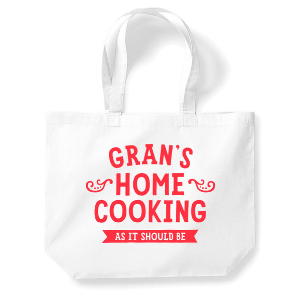 Grans Home Cooking Tote Bag, Gran Gift, Gran Birthday Bag, Personalised Gran Gift, Gran Present, Funny Gifts, Gran Gifts From Daughter, Keepsake