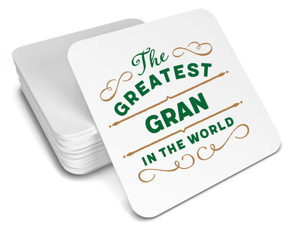 Greatest Gran Gift, Gran Coaster, Birthday Gift For Gran! Gran Present, Gran Birthday Gift!