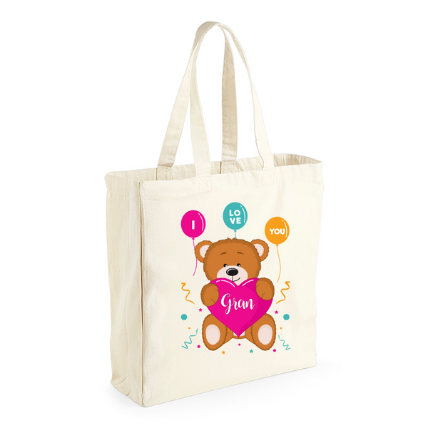 Gran Gift, Gran Birthday Bag, Keepsake, Tote, Shopping Bag