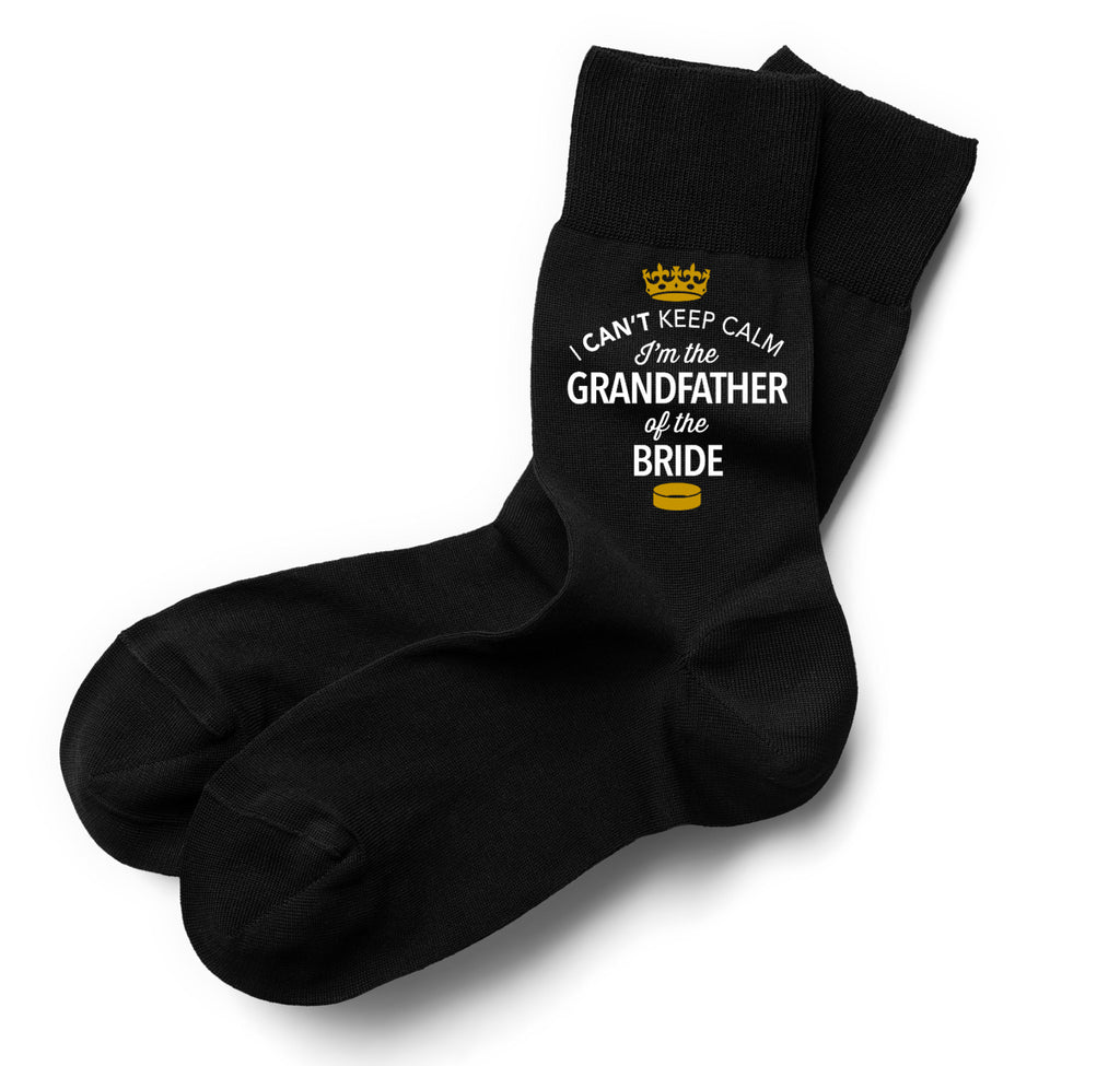 Grandfather of the Bride, Grandfather of the Bride Socks, Stag Party, Stag Night, Grandfather of the Bride Gifts, Stag Do Gifts, Wedding Gift Idea, Grandfather of the Bride Present, Wedding keepsake, Wedding Socks, Size 6-11