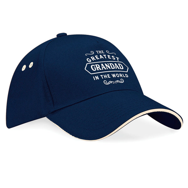 Grandad Birthday or Christmas Hat, Birthday Gift, Present, Gifts For Her, Worlds Greatest Grandad, Baseball cap