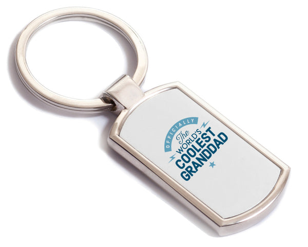 Granddad Gift, Birthday Gift, Birthday Key Ring, Keep sake gift, Personalised Gift, Worlds Coolest Granddad, Granddad To Be, Granddad present Idea