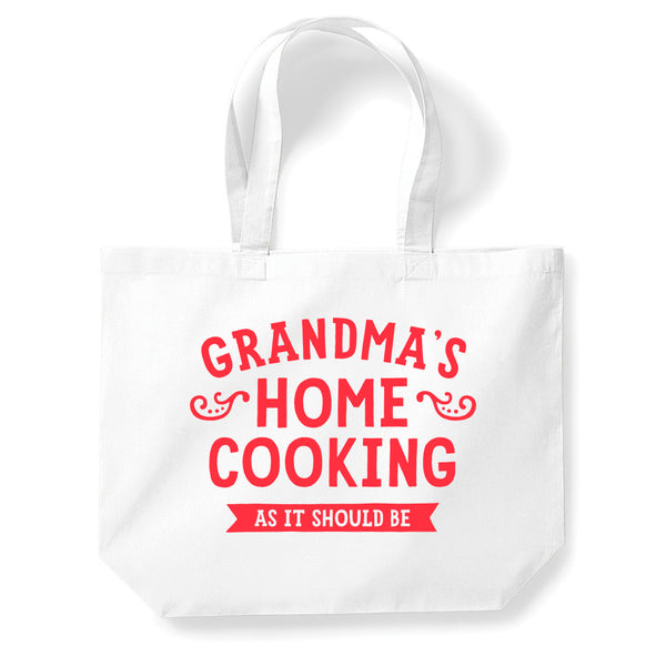 Grandmas Home Cooking Tote Bag, Grandma Gift, Grandma Birthday Bag, Personalised Grandma Gift, Grandma Present, Funny Gifts, Grandma Gifts From Daughter, Keepsake