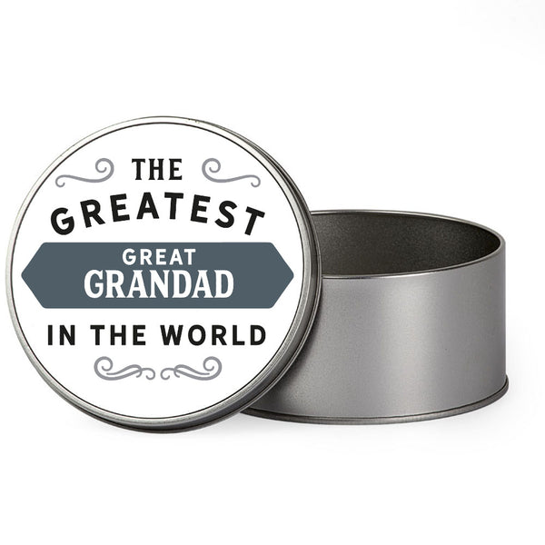 Great Grandad Gift, Greatest Great Grandad, Perfect Great Grandad Christmas Present or Birthday Tin