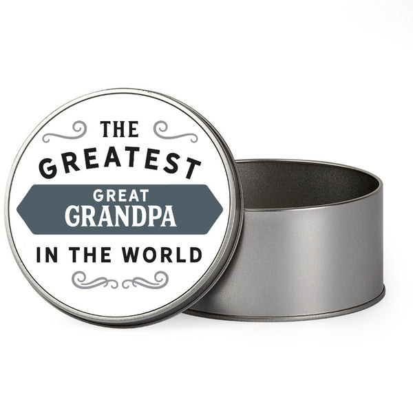 Great Grandpa Gift, Greatest Great Grandpa, Perfect Great Grandpa Christmas Present or Birthday Tin