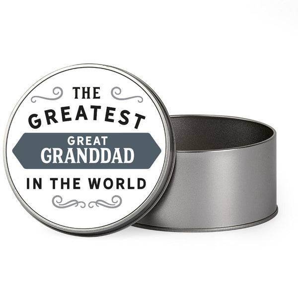 Great Granddad Gift, Greatest Great Granddad, Perfect Great Granddad Christmas Present or Birthday Tin