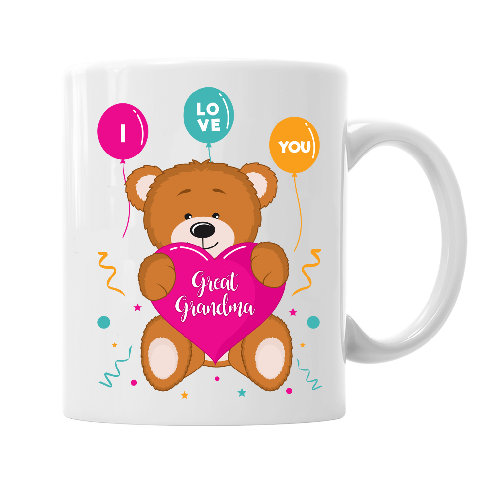 I Love Great Grandma Gift Mug Birthday For