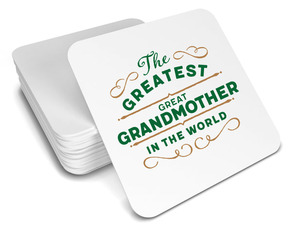 Greatest Great Grandmother Gift, Great Grandmother Coaster, Birthday Gift For Great Grandmother! Great Grandmother Present, Great Grandmother Birthday Gift!
