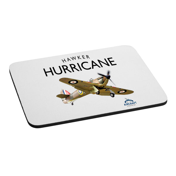 Hawker Hurricane Gift, Computer Mouse Mat, WWII Aircraft Gift For Men and Women