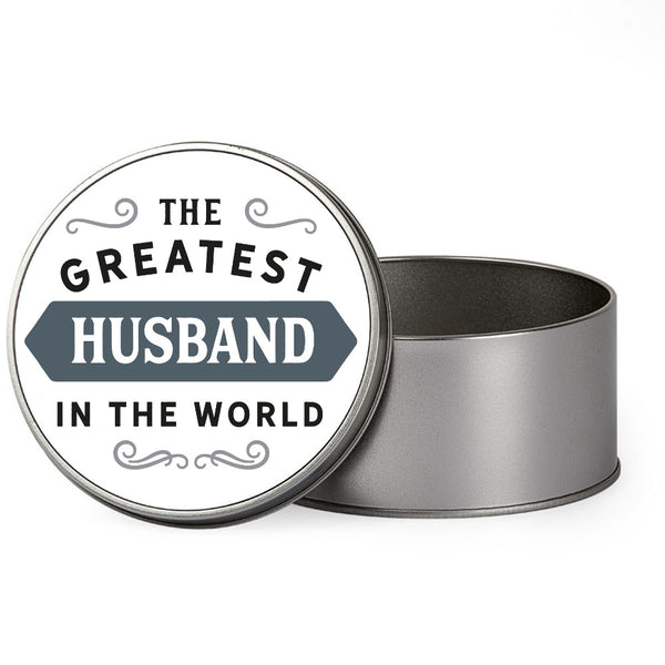 Husband Gift, Greatest Husband, Perfect Husband Christmas Present or Birthday Tin