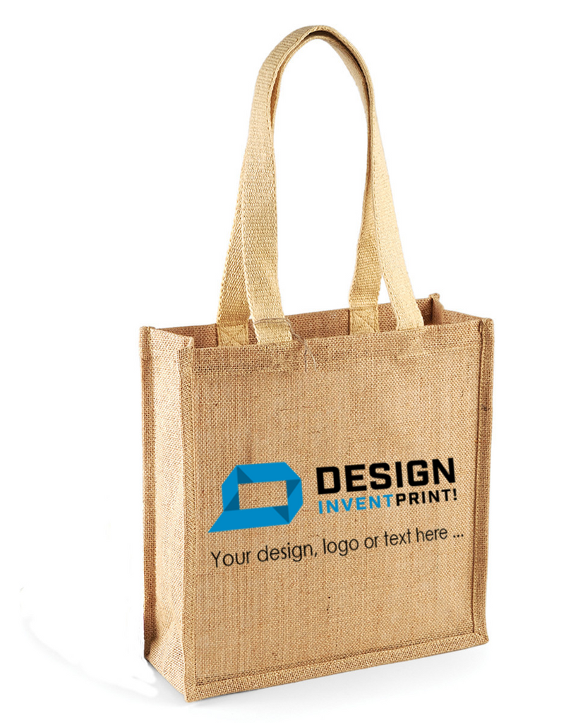 Custom Print Promotional Jute Tote, Printed With Your Design