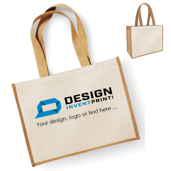Custom Print Promotional Large Sized Ladies Tote Bag, Printed With Your Design