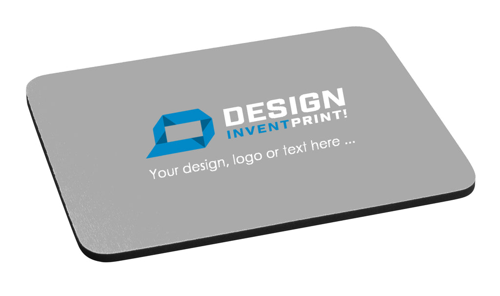 Custom Print Promotional or Gift Fabric Mouse Mat with 3mm or 5mm Black Rubber Base