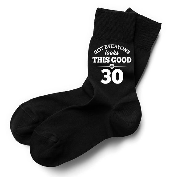 Not Everyone Looks This Good at 30 Black Sock, Mens 30th Birthday Gift, 30th Present, Gift Idea, Boys, Mens, Dad, Him, 1987 Men 30 Black Sock, Mens Socks