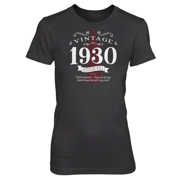 90th Birthday T Shirt Gift - Vintage Wine Bottle