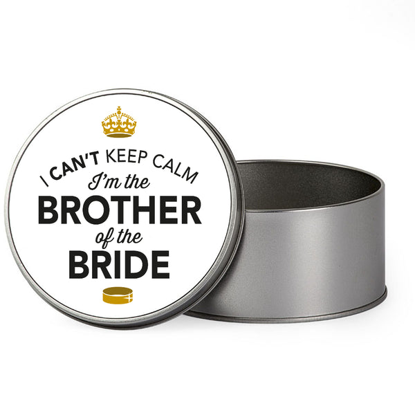 Brother Of The Bride Wedding Gift Box Present Idea Keepsake Tin Stag Do Night Party