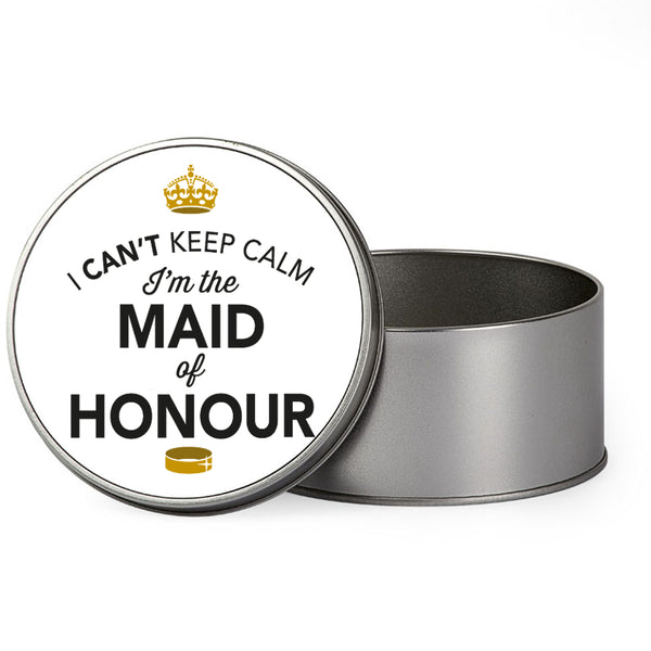 Maid of Honour Wedding Gift Box Present Idea Keepsake Tin Hen Do Night Party