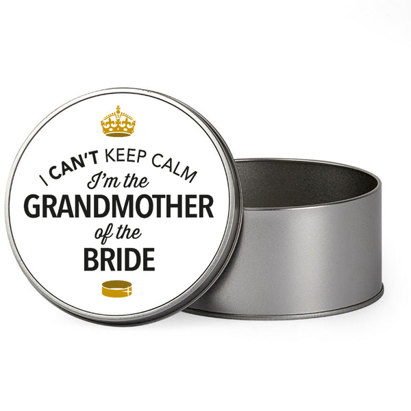 Grandmother Of The Bride Wedding Gift Box Present Idea Keepsake Tin Hen Do Night Party