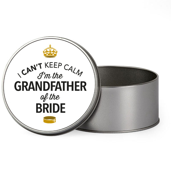 Grandfather Of The Bride Wedding Gift Box Present Idea Keepsake Tin Stag Do Night Party