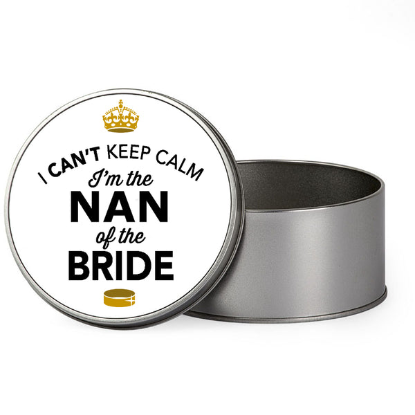 Nan Of The Bride Wedding Gift Box Present Idea Keepsake Tin Hen Do Night Party