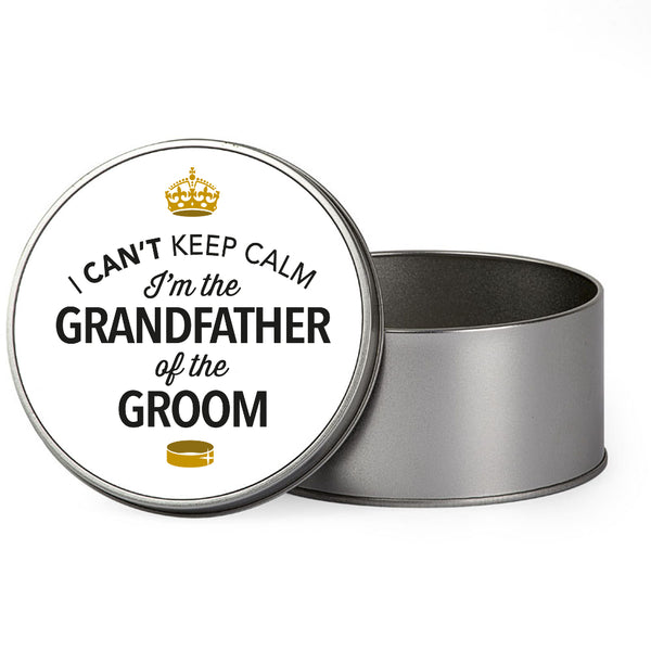 Grandfather Of The Groom Wedding Gift Box Present Idea Keepsake Tin Stag Do Night Party