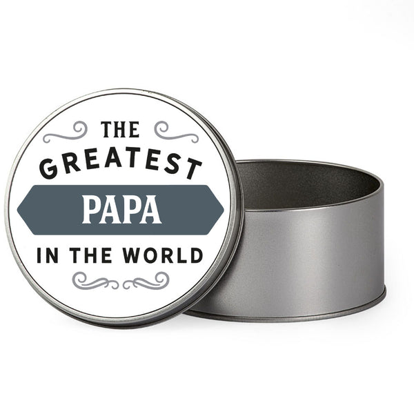 Papa Gift, Greatest Papa, Perfect Papa Christmas Present or Birthday Tin