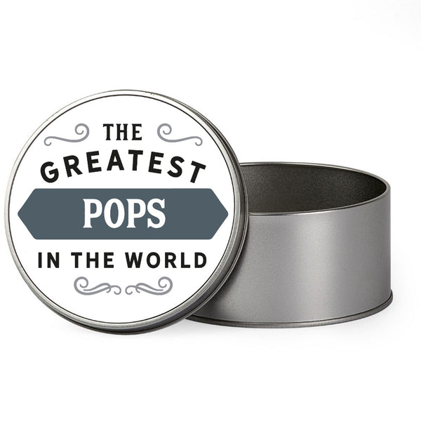 Pops Gift, Greatest Pops, Perfect Pops Christmas Present or Birthday Tin