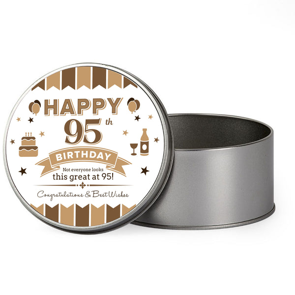 95th Birthday 1923 Gift Box Tin Keepsake For Men