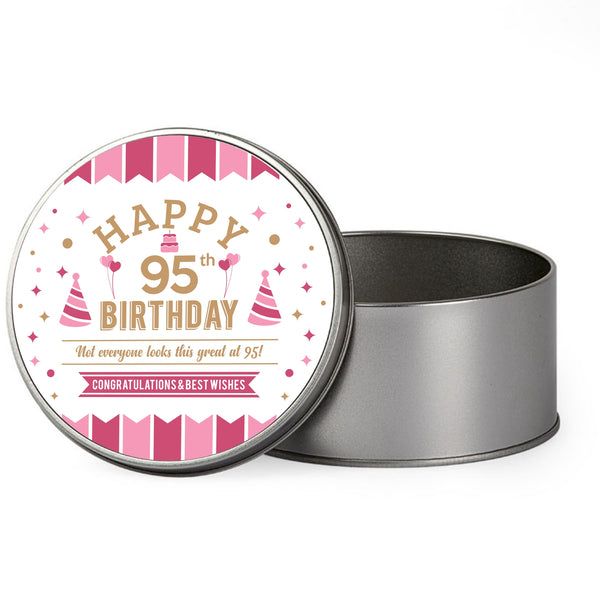 95th Birthday, 1923 Gift Box, Tin 95th Birthday Keepsake For Women