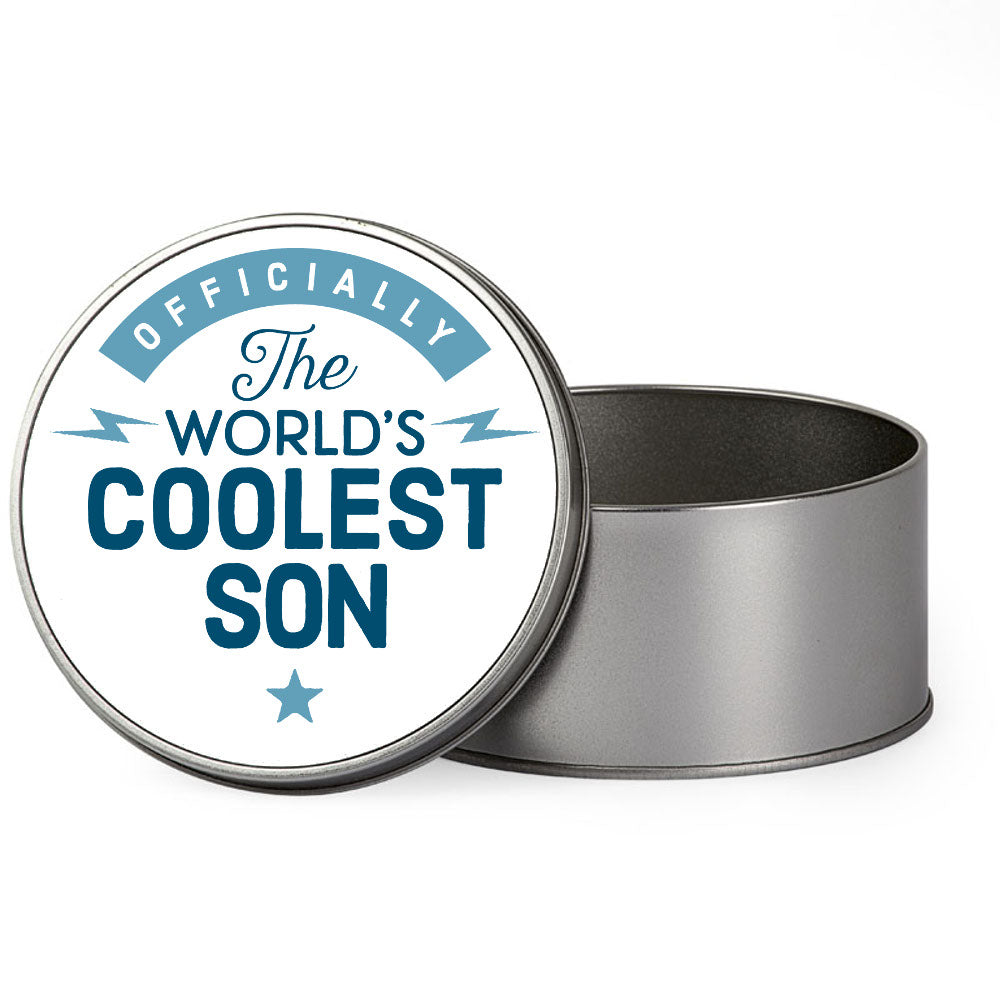 Son Gift Box, Coolest Son, Perfect Son Christmas Present or Birthday Tin