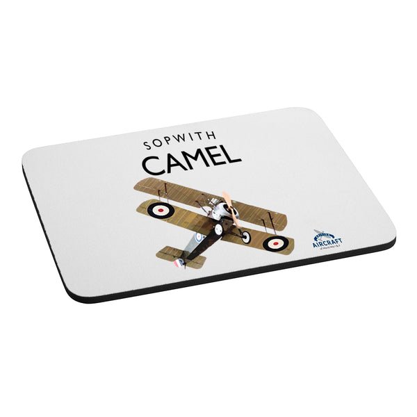 Sopwith Camel Gift, Computer Mouse Mat, Illustration, Detailed Vintage Gift, Unique and Original WWI Gift