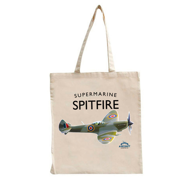 Spitfire Gift, Flying Legend, Supermarine Tote Bag, WWII Aircraft Gift
