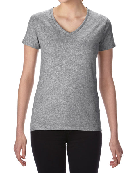 Custom Print Promotional Lady's V-neck T-Shirt, Printed With Your Design