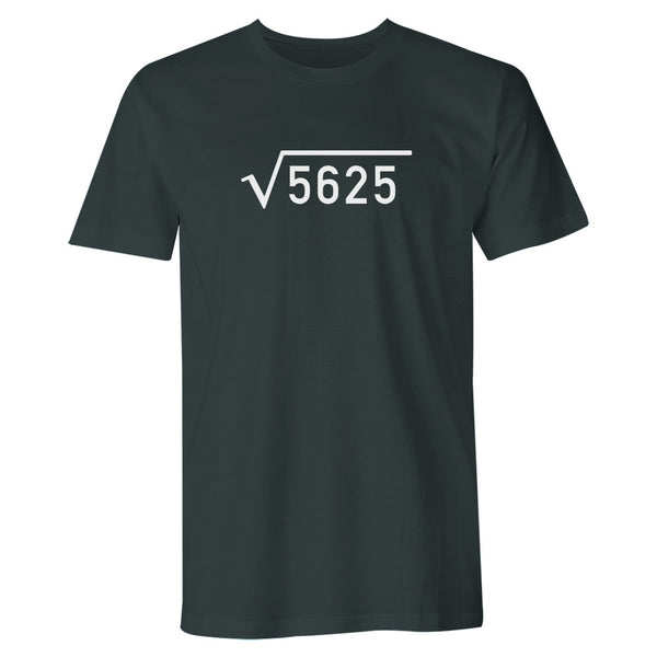 Men's 75th Birthday T Shirt Gift - Square Root