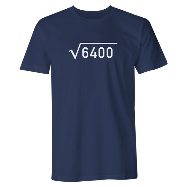 Men's 80th Birthday T Shirt Gift - Square Root