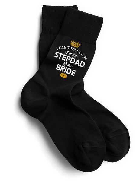 Step Dad of the Bride, Step Dad of the Bride Socks, Stag Party, Stag Night, Step Dad of the Bride Gifts, Stag Do Gifts, Wedding Gift Idea, Step Dad of the Bride Present, Wedding keepsake, Wedding Socks, Size 6-11