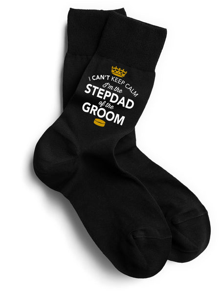 Step Dad of the Groom, Step Dad of the Groom Socks, Stag Party, Stag Night, Step Dad of the Groom Gifts, Stag Do Gifts, Wedding Gift Idea, Step Dad of the Groom Present, Wedding keepsake, Wedding Socks, Size 6-11