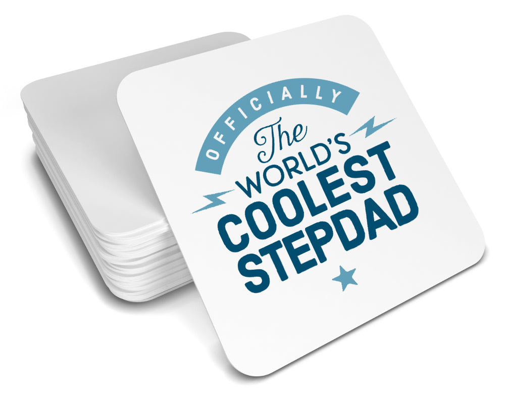 Stepdad Gift Cool Coaster Birthday For Design Invent Print
