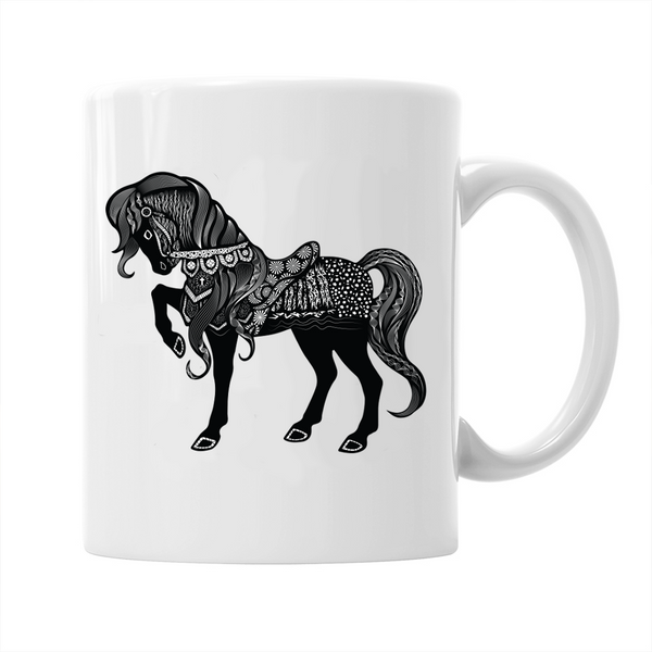 Tribal Horse, No Saddle Mug