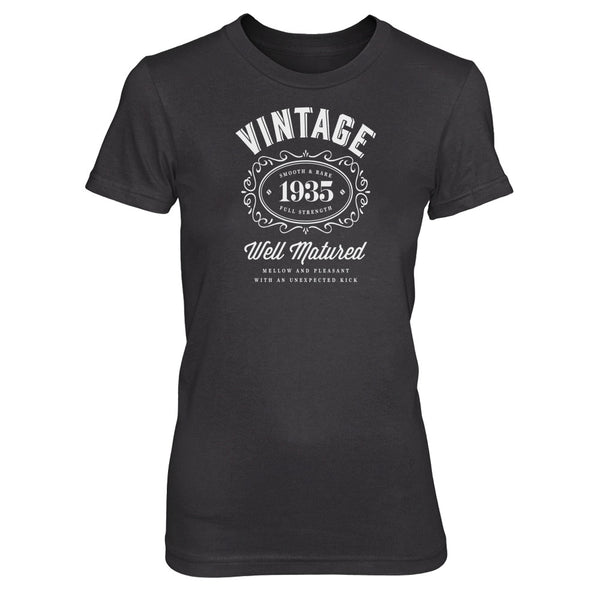 Women's 85th Birthday T Shirt Gift - Vintage Bourbon - Pink