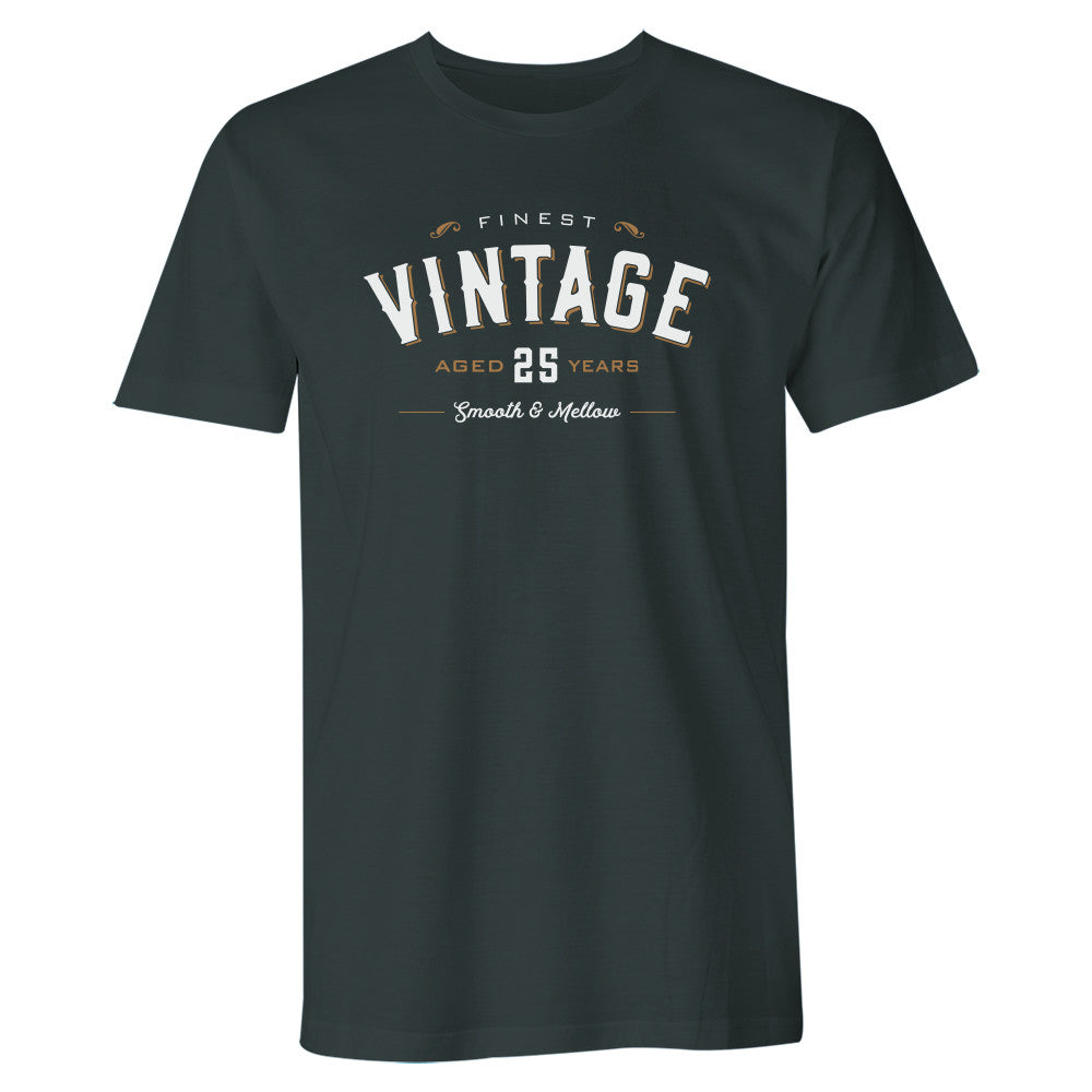 Men's 25th Birthday T Shirt Gift - Vintage Whiskey