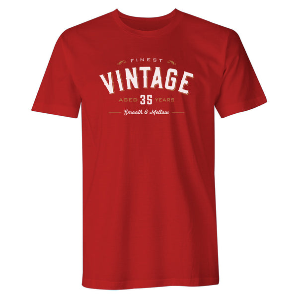 Men's 35th Birthday T Shirt Gift - Vintage Whiskey