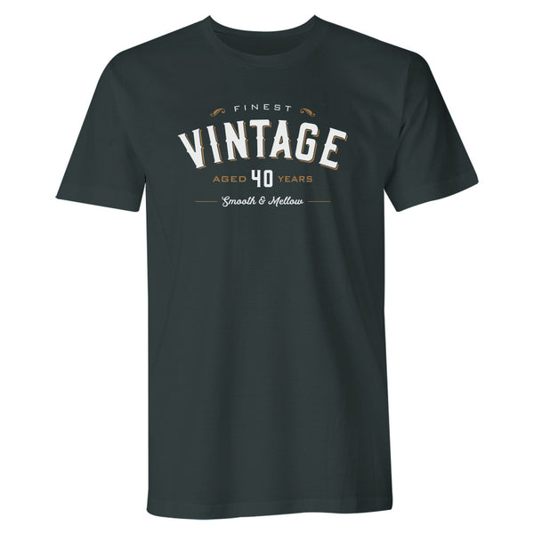 Men's 40th Birthday T Shirt Gift - Vintage Whiskey