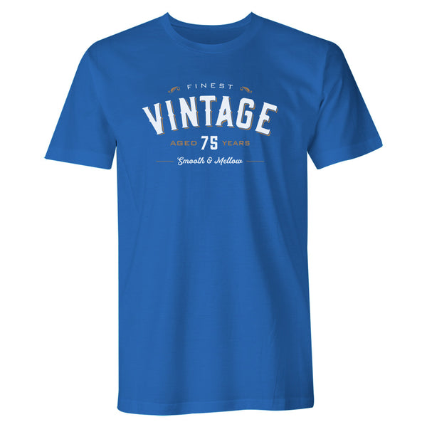 Men's 75th Birthday T Shirt Gift - Vintage Whiskey