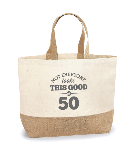 50th Birthday, 50th Birthday Idea, 50th Birthday Bag, Tote, Shopping Bag, Great 50th Birthday Present, 50th Birthday Gift,