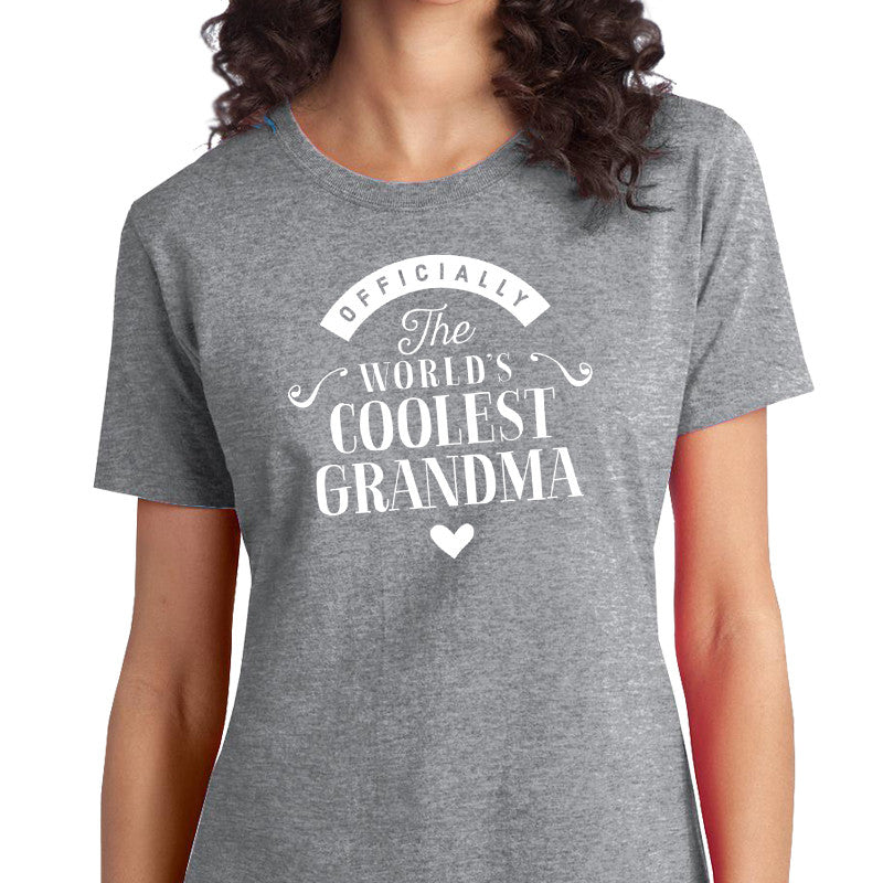 Cool Grandma Gift T Shirt Worlds Coolest Birthday For Awesome